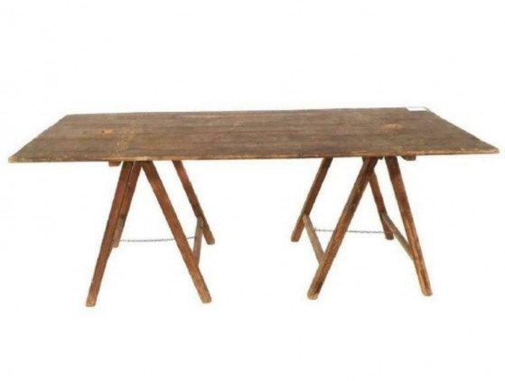 Schragen tafel hout 200cm x 100 cm