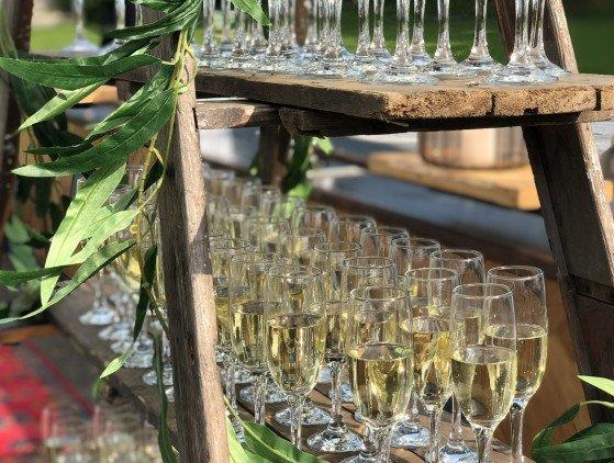 Champagnetrap decoratie