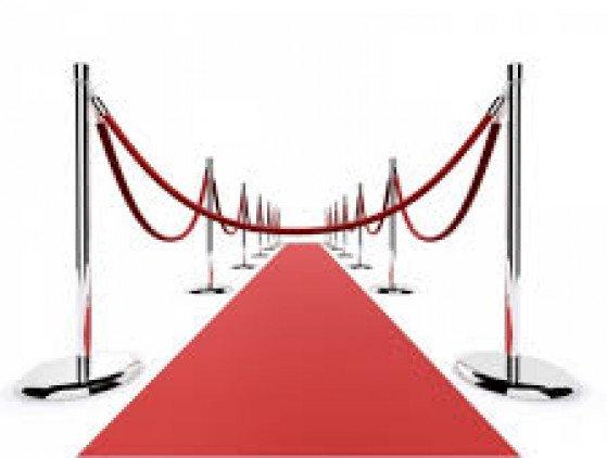Rode Loper 10m x 2m ontvangst- decoratie