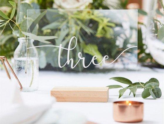 Tafelnummers | acryl | set van 12 boho