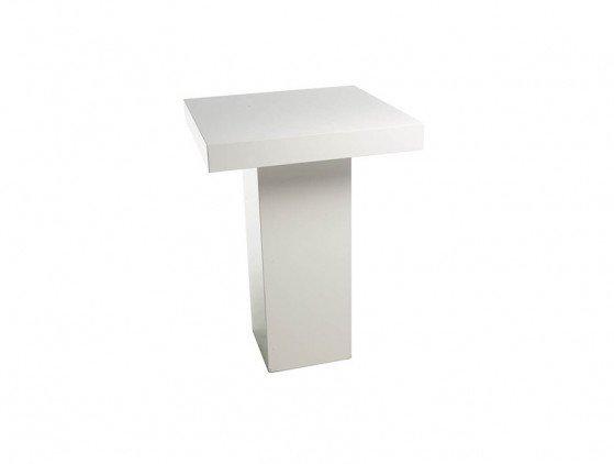 Statafel wit, vierkant 80x80cm