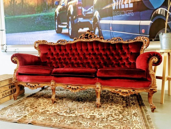 Barok bank 3-zits meubilair- wedding- ceremonie