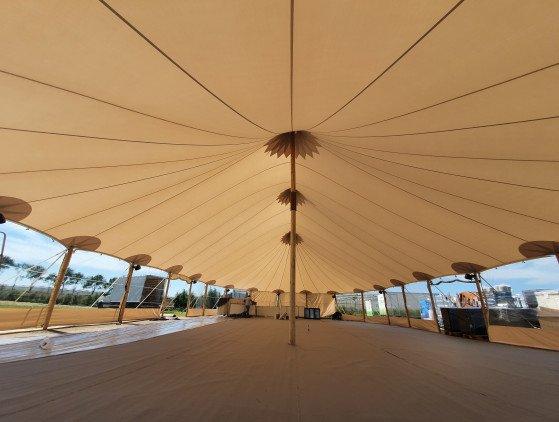 Sailcloth tent 14 x 26 m sailcloth- tent- wedding- trouwen- feest- event- tenten- overkapping