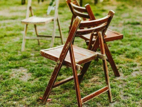 Vintage klapstoeltjes van hout