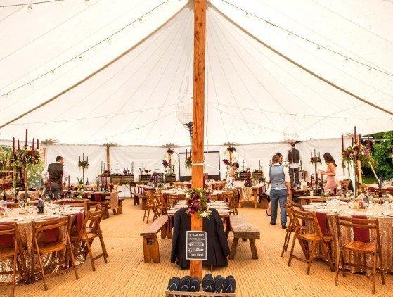 Sailcloth tent 10 x 16 m
