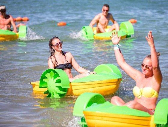 Raderbootjes activiteit