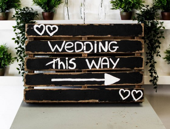 """Wedding Sign"" decoratie- wedding- bruiloft"