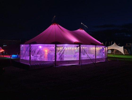 Sailcloth tent 10 x 10 m