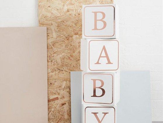 Gigantische blokken | Baby babyshower