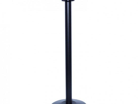 Afzetpaal zwart met ronde bol ontvangst