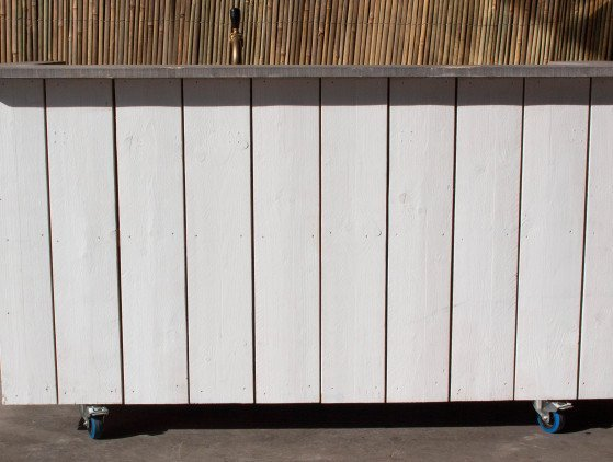 Steigerhouten bar (White Wash)