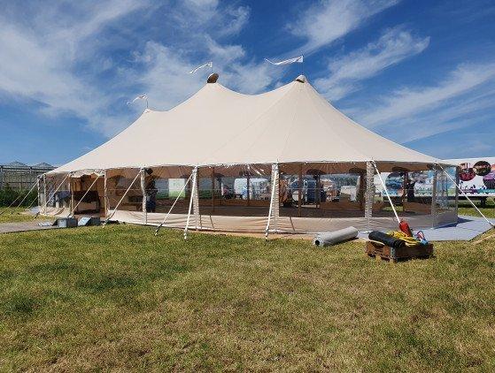Sailcloth tent 14 x 26 m
