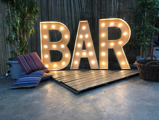 "Sfeerletters ""BAR"" Letters (led-verlicht)"